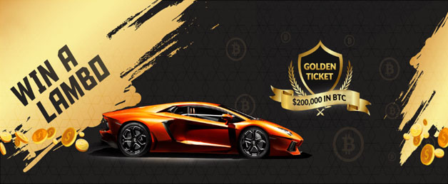 One of the prizes of the golden ticket contest: a Lamborghini Huracan LP 580-2